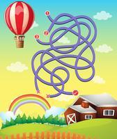 Spielvorlage mit Ballonfliegen vektor