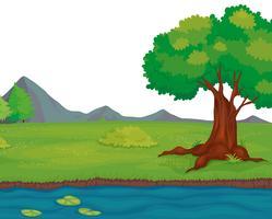 Landsbygdens landskap vektor