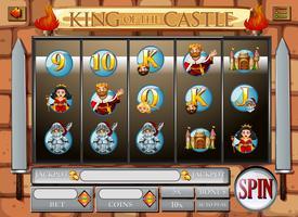 Spielvorlage mit König und Königin