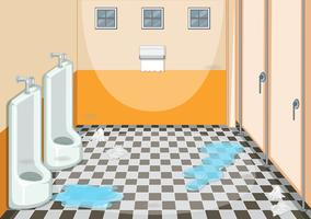 En smutsig manlig toalett