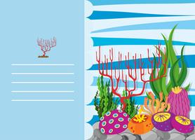 Papierdesign mit Korallenriff vektor