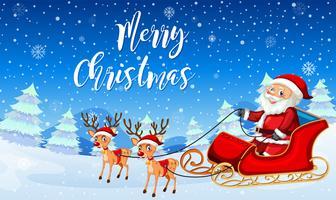 Santa claus på släde