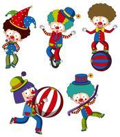 En uppsättning cirkus clown