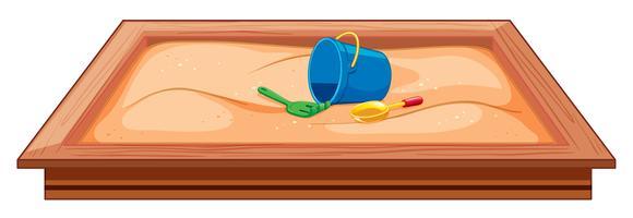 große sandgrube plaground-ausrüstung vektor