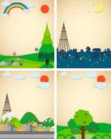 Scener från stad och landsbygd