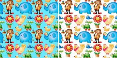 Nahtloser Hintergrund mit vielen Spielwaren