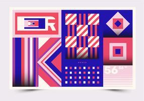 BoxedAbstract geometrischer Plakat-Vektor
