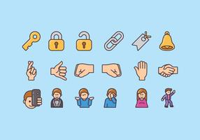 Emoji-Icon-Design-Paket vektor