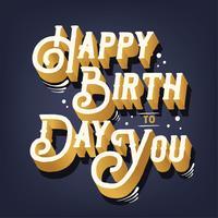 glückliches Geburtstagsvektordesign