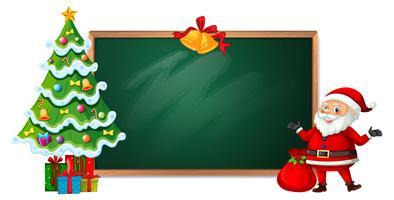Jul på blackboard banner vektor