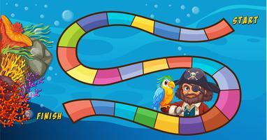 Piraten-Brettspiel vektor