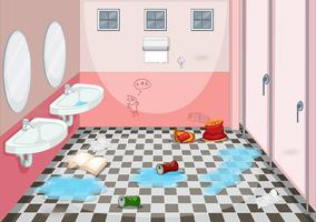 Innenarchitektur der schmutzigen Toilette vektor