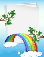 Pappersdesign med regnbåge och grenar