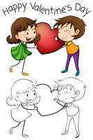 Schönes Paar am Valentinstag vektor