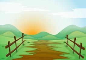 Landlandschaft vektor