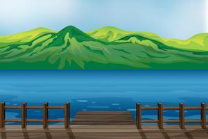 Ein blaues ruhiges Meer vektor
