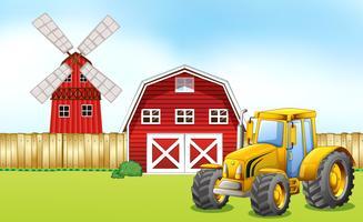 Traktor auf dem Hof