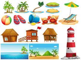 Sommerthema mit Meer und Gebäuden