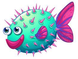 Ein bunter Blasenfisch vektor