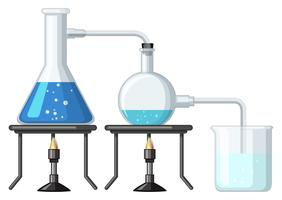 Experimentieren Sie mit der Verbrennung von Chemikalien vektor