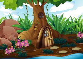 Ein Baumhaus am Wald