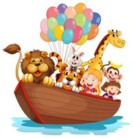 En båt full av djur