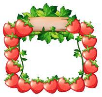 Rahmendesign mit frischen Erdbeeren vektor