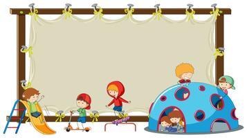 Kinder auf leerem Brett vektor