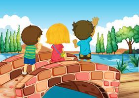 Kinder an der Brücke