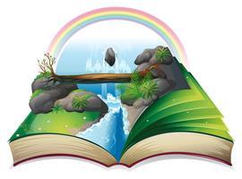 Vattenfall bok vektor