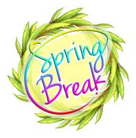 En spring break mall vektor