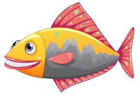 Ein bunter großer Fisch vektor