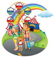 Eine familiäre Bindung zum Karneval vektor