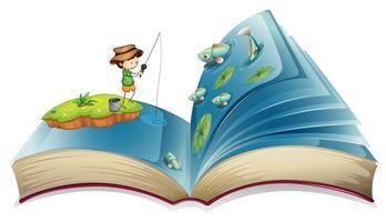 Buch des Jungenfischens im Teich