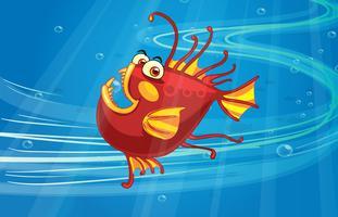 En läskig fisk vektor