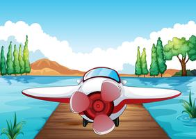 Steg und Flugzeug vektor