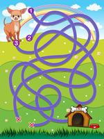 En labyrint vektor