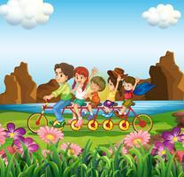 En familj cykel vektor