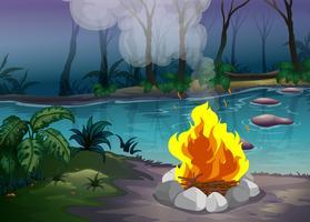 Skog och eld vektor