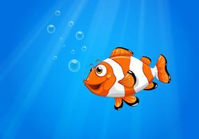 Ett hav med en nemo fisk vektor