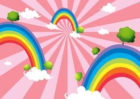 Färgglada regnbågar vektor