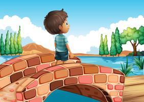 Ein Junge an der Brücke
