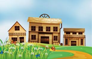 Häuser in der Nachbarschaft vektor