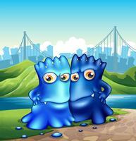 Zwei Monster in der Stadt vektor