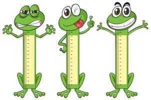 Höhenmeßkarte mit Froschzeichen vektor