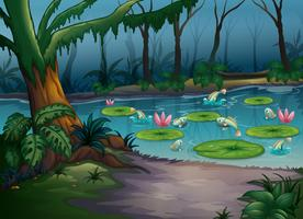 Fiskar i djungeln vektor
