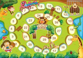 Zoo Thema Brettspiel vektor