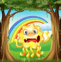 Ett arg monster vid djungeln vektor