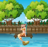 Eine Meerjungfrau im Hafen