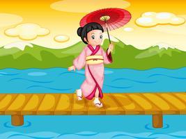 Kinesisk kvinna vektor